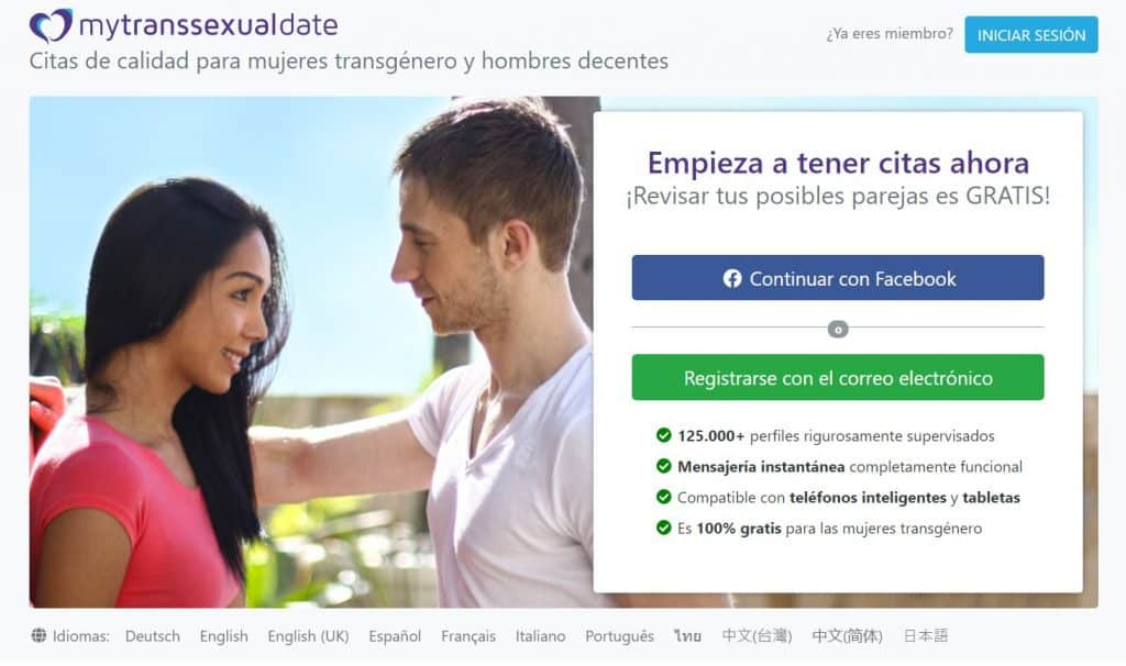 MyTransexualDate Pagina
